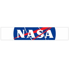 Nasa Logo Large Flano Scarf  by Samandel