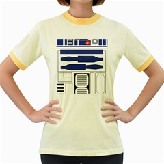 R2 Series Astromech Droid Women s Fitted Ringer T Shirts