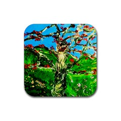 Coral Tree 2 Rubber Coaster (square)  by bestdesignintheworld