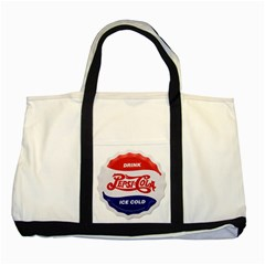 Pepsi Cola Bottle Cap Style Metal Two Tone Tote Bag