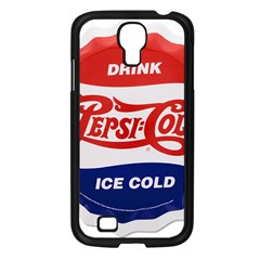 Pepsi Cola Bottle Cap Style Metal Samsung Galaxy S4 I9500/ I9505 Case (black)