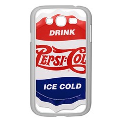Pepsi Cola Bottle Cap Style Metal Samsung Galaxy Grand Duos I9082 Case (white)