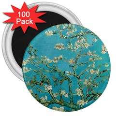 Almond Blossom  3  Magnets (100 Pack) by Valentinaart