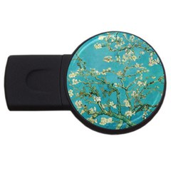 Almond Blossom  Usb Flash Drive Round (2 Gb) by Valentinaart