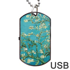 Almond Blossom  Dog Tag Usb Flash (two Sides) by Valentinaart