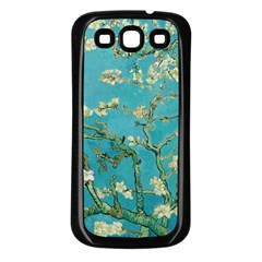 Almond Blossom  Samsung Galaxy S3 Back Case (black) by Valentinaart