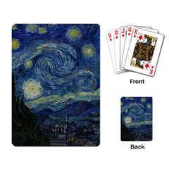 The Starry Night  Playing Card by Valentinaart