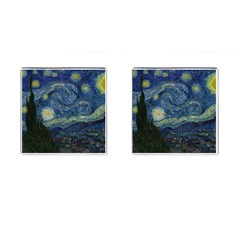 The Starry Night  Cufflinks (square) by Valentinaart