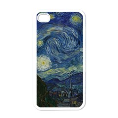 The Starry Night  Apple Iphone 4 Case (white) by Valentinaart