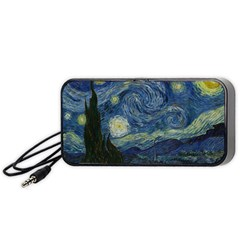 The Starry Night  Portable Speaker by Valentinaart