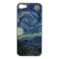 The Starry Night  Apple Iphone 5 Case (silver)