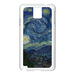 The Starry Night  Samsung Galaxy Note 3 N9005 Case (white) by Valentinaart