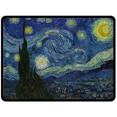 The Starry Night  Double Sided Fleece Blanket (large)