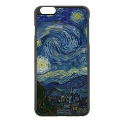 The Starry Night  Apple Iphone 6 Plus/6s Plus Black Enamel Case by Valentinaart