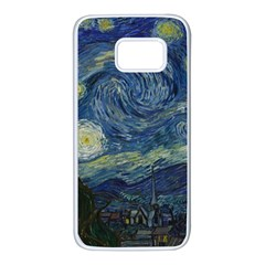 The Starry Night  Samsung Galaxy S7 White Seamless Case by Valentinaart