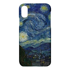 The Starry Night  Apple Iphone X Hardshell Case by Valentinaart