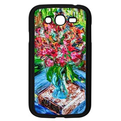 Paint, Flowers And Book Samsung Galaxy Grand Duos I9082 Case (black)
