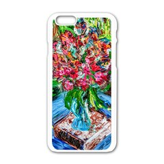 Paint, Flowers And Book Apple Iphone 6/6s White Enamel Case by bestdesignintheworld