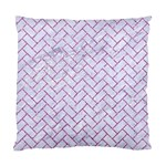 BRICK2 WHITE MARBLE & PURPLE GLITTER (R) Standard Cushion Case (Two Sides) Back
