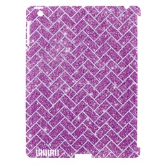Brick2 White Marble & Purple Glitter Apple Ipad 3/4 Hardshell Case (compatible With Smart Cover) by trendistuff