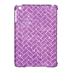 Brick2 White Marble & Purple Glitter Apple Ipad Mini Hardshell Case (compatible With Smart Cover) by trendistuff