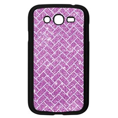 Brick2 White Marble & Purple Glitter Samsung Galaxy Grand Duos I9082 Case (black) by trendistuff