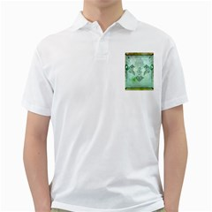 Music, Decorative Clef With Floral Elements Golf Shirts by FantasyWorld7