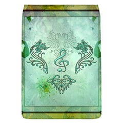 Music, Decorative Clef With Floral Elements Flap Covers (l)  by FantasyWorld7