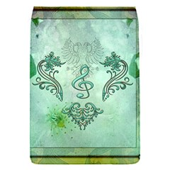 Music, Decorative Clef With Floral Elements Flap Covers (s)  by FantasyWorld7