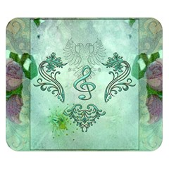 Music, Decorative Clef With Floral Elements Double Sided Flano Blanket (small)  by FantasyWorld7