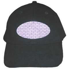 Brick1 White Marble & Purple Glitter (r) Black Cap by trendistuff