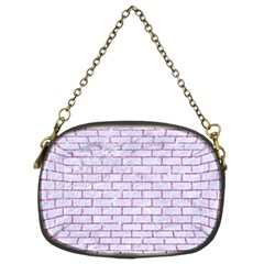 Brick1 White Marble & Purple Glitter (r) Chain Purses (two Sides)  by trendistuff