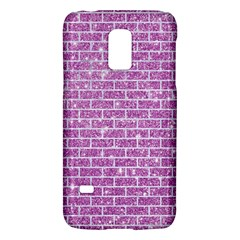 Brick1 White Marble & Purple Glitter Galaxy S5 Mini by trendistuff