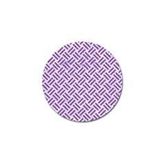 Woven2 White Marble & Purple Denim (r) Golf Ball Marker (10 Pack) by trendistuff