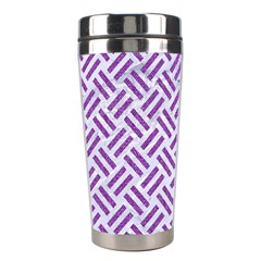 Woven2 White Marble & Purple Denim (r) Stainless Steel Travel Tumblers by trendistuff