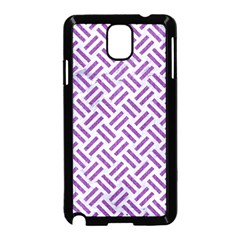 Woven2 White Marble & Purple Denim (r) Samsung Galaxy Note 3 Neo Hardshell Case (black) by trendistuff