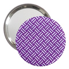 Woven2 White Marble & Purple Denim 3  Handbag Mirrors by trendistuff