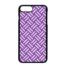Woven2 White Marble & Purple Denim Apple Iphone 8 Plus Seamless Case (black) by trendistuff