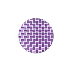 Woven1 White Marble & Purple Denim (r) Golf Ball Marker by trendistuff