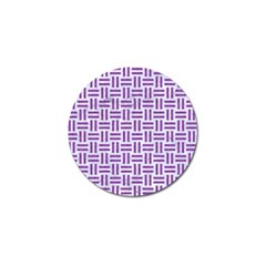 Woven1 White Marble & Purple Denim (r) Golf Ball Marker (10 Pack) by trendistuff