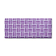 Woven1 White Marble & Purple Denim (r) Cosmetic Storage Cases by trendistuff