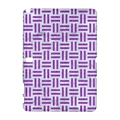 Woven1 White Marble & Purple Denim (r) Galaxy Note 1 by trendistuff