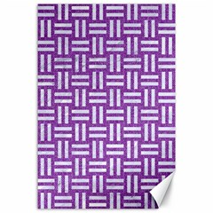 Woven1 White Marble & Purple Denim Canvas 24  X 36  by trendistuff