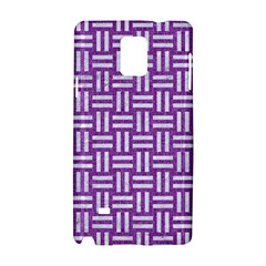 Woven1 White Marble & Purple Denim Samsung Galaxy Note 4 Hardshell Case by trendistuff