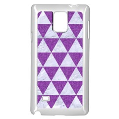 Triangle3 White Marble & Purple Denim Samsung Galaxy Note 4 Case (white) by trendistuff