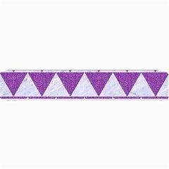 Triangle2 White Marble & Purple Denim Small Bar Mats by trendistuff