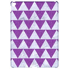 Triangle2 White Marble & Purple Denim Apple Ipad Pro 12 9   Hardshell Case by trendistuff