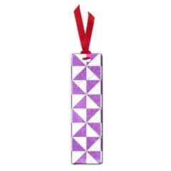 Triangle1 White Marble & Purple Denim Small Book Marks by trendistuff