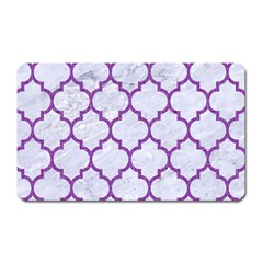 Tile1 White Marble & Purple Denim (r) Magnet (rectangular) by trendistuff