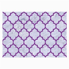 Tile1 White Marble & Purple Denim (r) Large Glasses Cloth by trendistuff